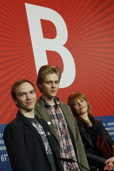 Roma Gasiorowska, Jan Komasa, and Jakub Gierszal in Sala samobójców (2011)