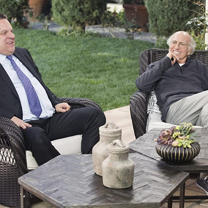 Larry David and Jeff Garlin in Curb Your Enthusiasm (2000)