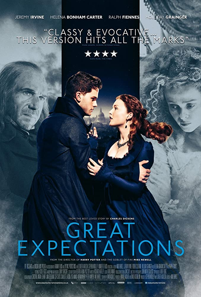 a comparison of the great expectations novel by charles dickens and its movie version in terms of pl