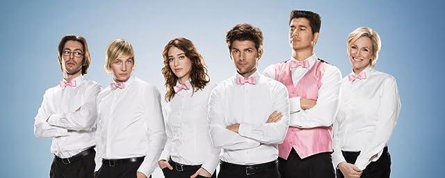 Adam Scott, Lizzy Caplan, Jane Lynch, Ken Marino, Martin Starr, and Ryan Hansen in Party Down (2009)