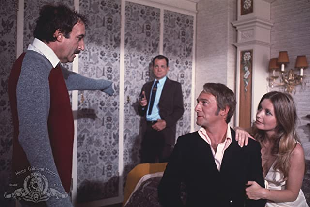 Peter Sellers, Christopher Plummer, and Catherine Schell in The Return of the Pink Panther (1975)