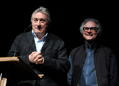 Robert De Niro and Barry Levinson at What Just Happened (2008)