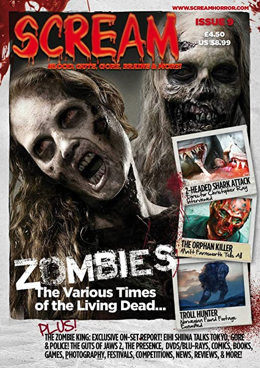 The Orphan Killer on the cover of Scream Magazine UK. Creator Matt Farnsworth interviewed inside.