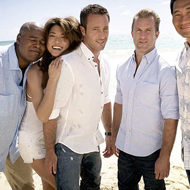 Scott Caan, Daniel Dae Kim, Chi McBride, Grace Park, and Alex O'Loughlin in Hawaii Five-0 (2010)