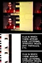 Image of Film in Which There Appear Edge Lettering, Sprocket Holes, Dirt Particles, Etc.