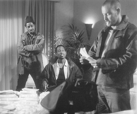 Martin Lawrence, John C. McGinley, and Giancarlo Esposito in Nothing to Lose (1997)
