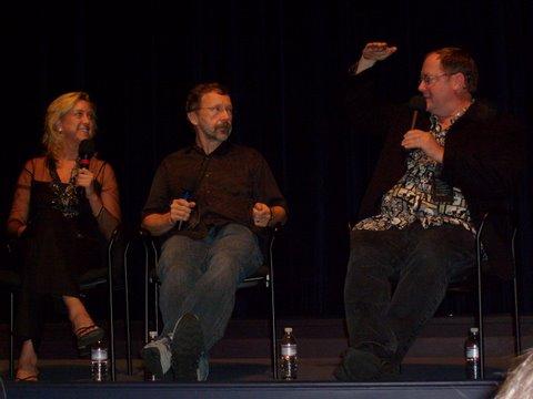 John Lasseter, Ed Catmull, and Leslie Iwerks at The Pixar Story (2007)