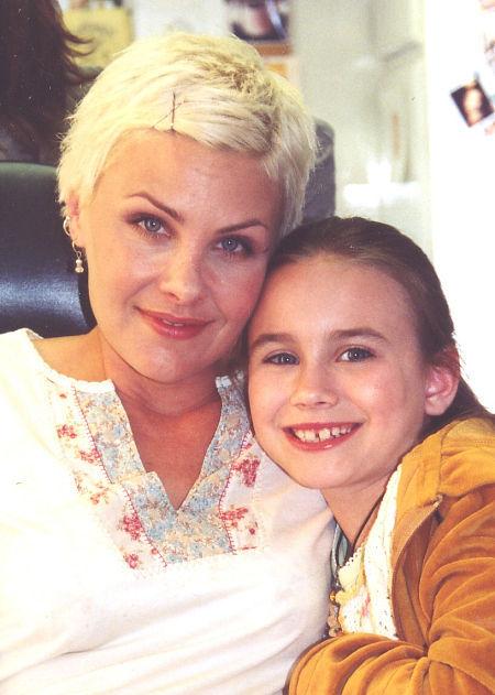 Alix Kermes and Sherilyn Fenn on the set of The Gilmore Girls Spinoff 2003 Pilot