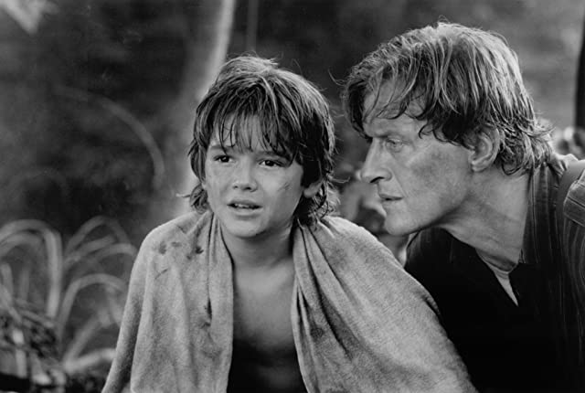 Rutger Hauer and Brandon Call in Blind Fury (1989)