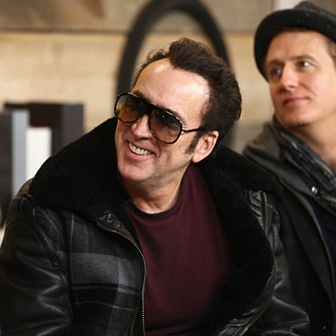 Nicolas Cage and Linus Roache at an event for Mandy (2018)