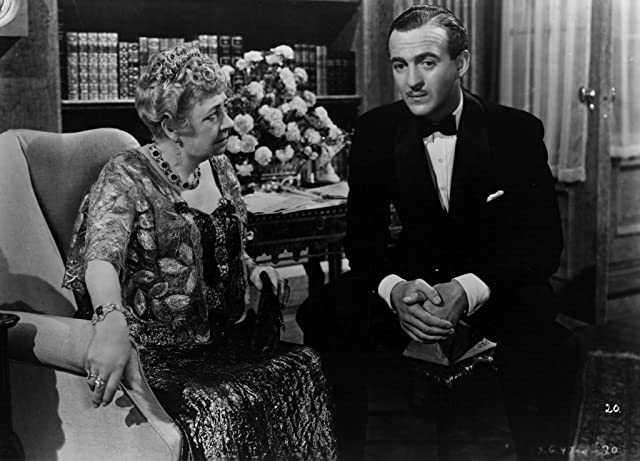 David Niven and Dame May Whitty in Raffles (1939)