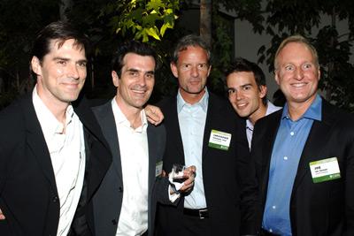 Thomas Gibson, Ty Burrell, Christopher Gorham, Joe Keenan, and Christopher Lloyd at Criminal Minds (2005)