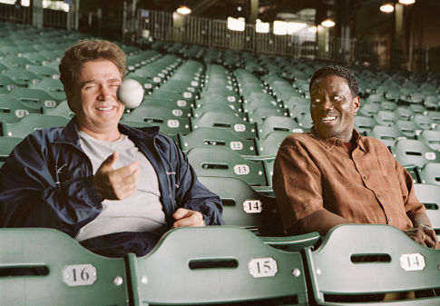 Old teammates and best friends, Boca (Michael Rispoli, left) and Ross (Bernie Mac, right) reflect on their baseball glory days.