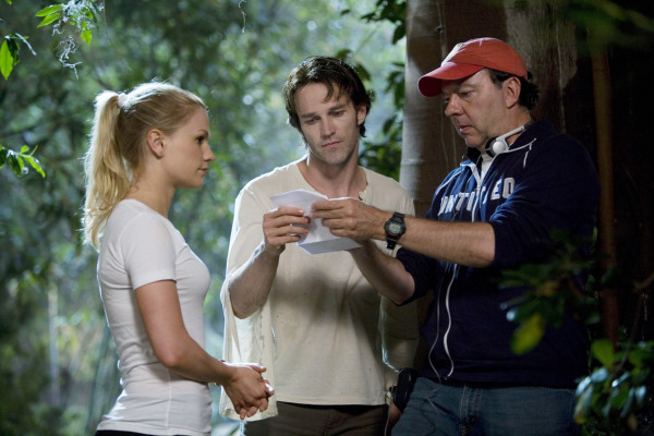 Anna Paquin, Alan Ball, and Stephen Moyer in True Blood (2008)