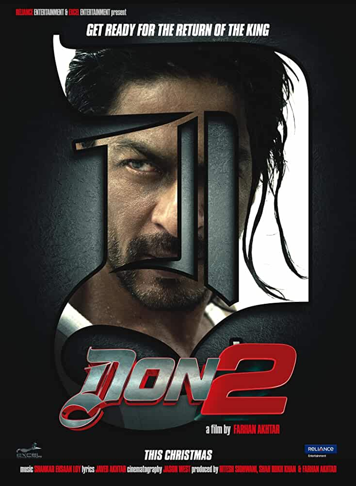 Don 2 (2011) Full Movie 720p BluRay With ESubs Download