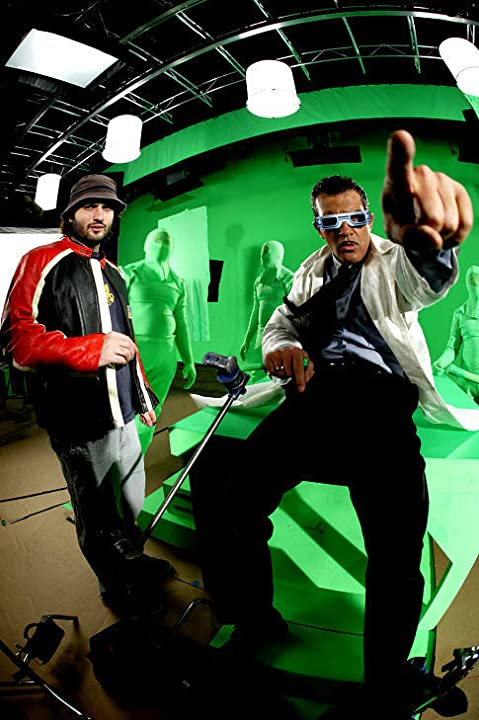 Antonio Banderas and Robert Rodriguez in Spy Kids 3-D: Game Over (2003)