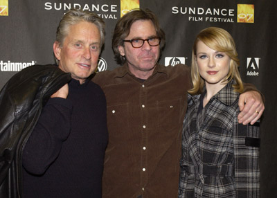 Michael Douglas, Mike Cahill, and Evan Rachel Wood at an event for King of California (2007)