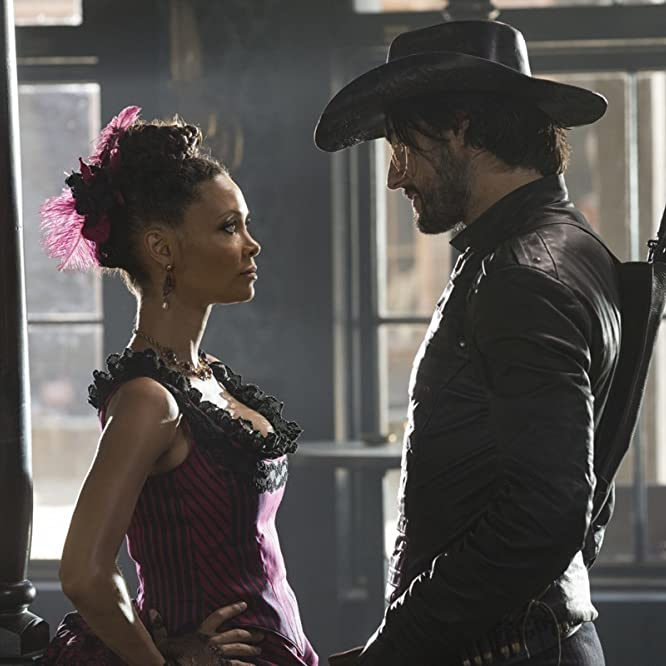 Thandie Newton and Rodrigo Santoro in Westworld (2016)