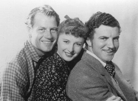 Barbara Stanwyck, Joel McCrea, and Robert Preston in Union Pacific (1939)