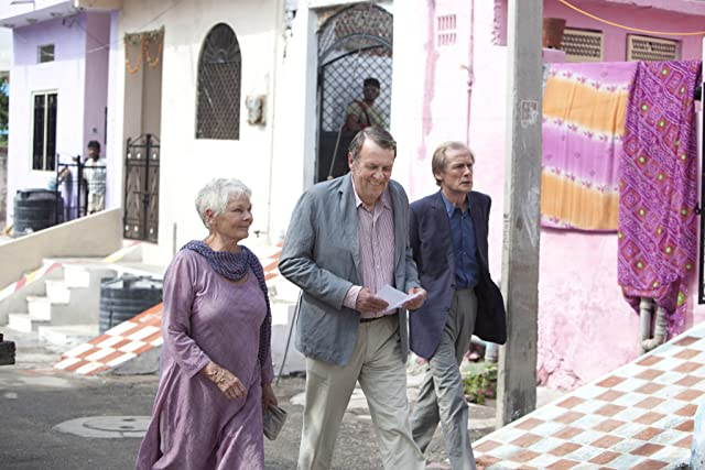 Still of Judi Dench, Bill Nighy and Tom Wilkinson in The Best Exotic Marigold Hotel