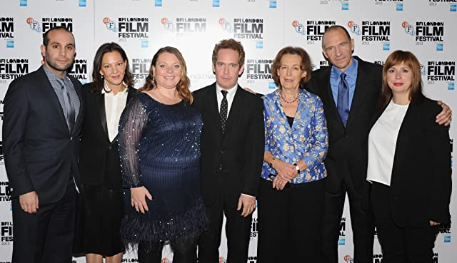 Ralph Fiennes, Tom Hollander, Abi Morgan, Joanna Scanlan, Gabrielle Tana, Ilan Eshkeri, and Claire Tomalin at an event for The Invisible Woman (2013)