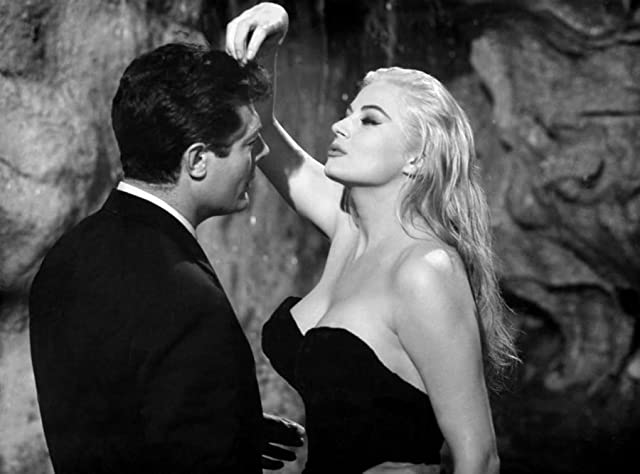 Marcello Mastroianni and Anita Ekberg in La Dolce Vita (1960)