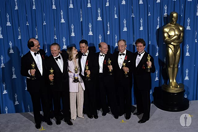 Jodie Foster, Anthony Hopkins, Jonathan Demme, Ronald M. Bozman, Edward Saxon, Ted Tally, and Kenneth Utt at The 64th Annual Academy Awards (1992)