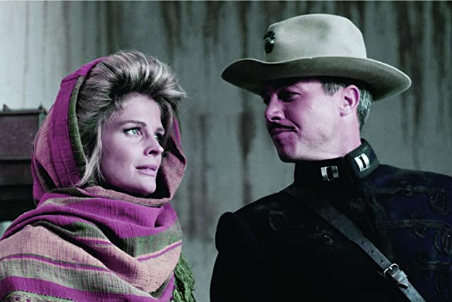 Candice Bergen and Steve Kanaly in The Wind and the Lion (1975)