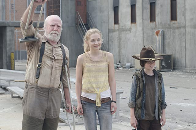Scott Wilson, Emily Kinney, and Chandler Riggs in The Walking Dead (2010)