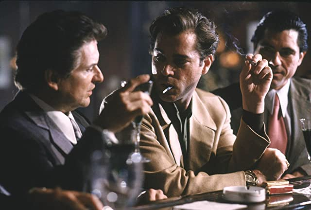 Ray Liotta, Joe Pesci, and Joseph Bono in Goodfellas (1990)