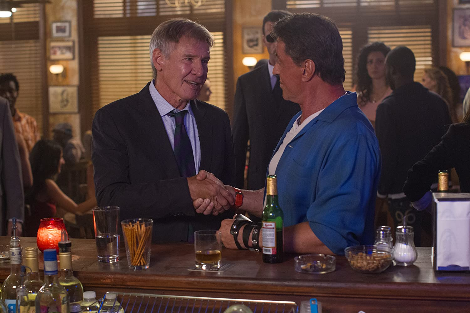Harrison Ford and Sylvester Stallone in The Expendables 3 (2014)