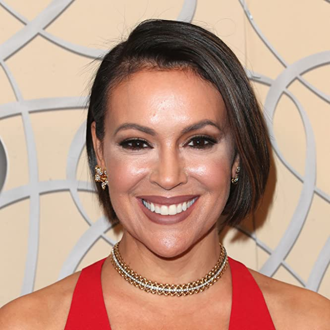 Alyssa Milano at an event for The 74th Golden Globe Awards (2017)