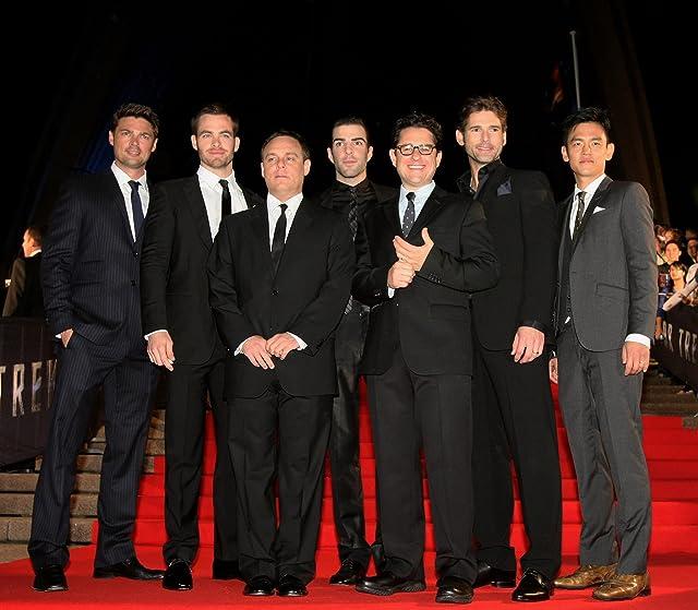 J.J. Abrams, Eric Bana, John Cho, Zachary Quinto, Karl Urban, Bryan Burk, and Chris Pine at Star Trek (2009)