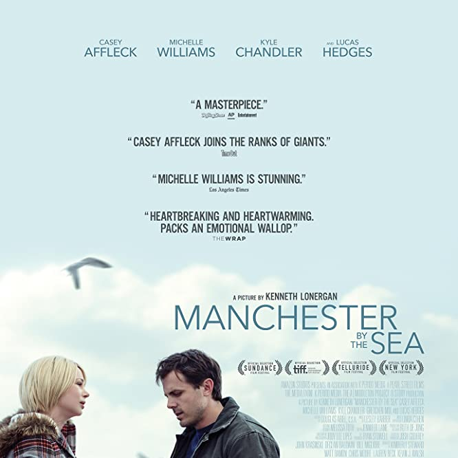 Casey Affleck, Michelle Williams, and Quincy Tyler Bernstine in Manchester by the Sea (2016)