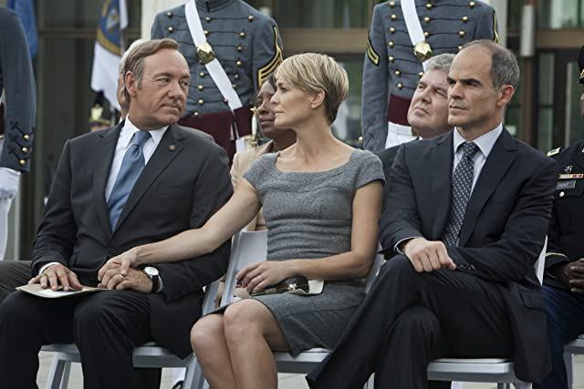 Kevin Spacey, Robin Wright, and Michael Kelly in House of Cards (2013)