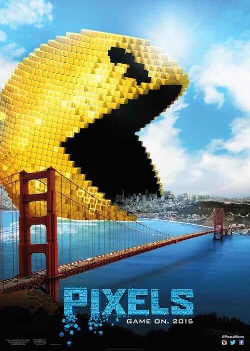 Poster Pixels (2015) Full HD Movie Download Dual Audio Hindi Free 720p