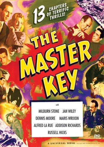 Lash La Rue, George Lynn, Dennis Moore, Milburn Stone, and Jan Wiley in The Master Key (1945)