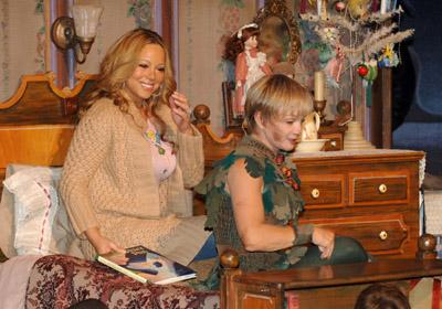 Mariah Carey and Cathy Rigby