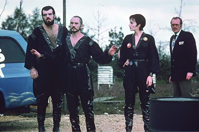 Terence Stamp, Bill Bailey, Sarah Douglas, and Jack O'Halloran in Superman II (1980)