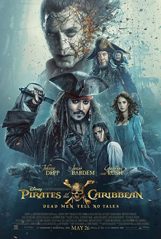 Poster Pirates of The Caribbean Dead Men Tell No Tales in Hindi Dubbed 720p HD