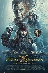 Johnny Depp, Javier Bardem, Geoffrey Rush, Kaya Scodelario, and Brenton Thwaites in Pirates of the Caribbean: Dead Men Tell No Tales (2017)