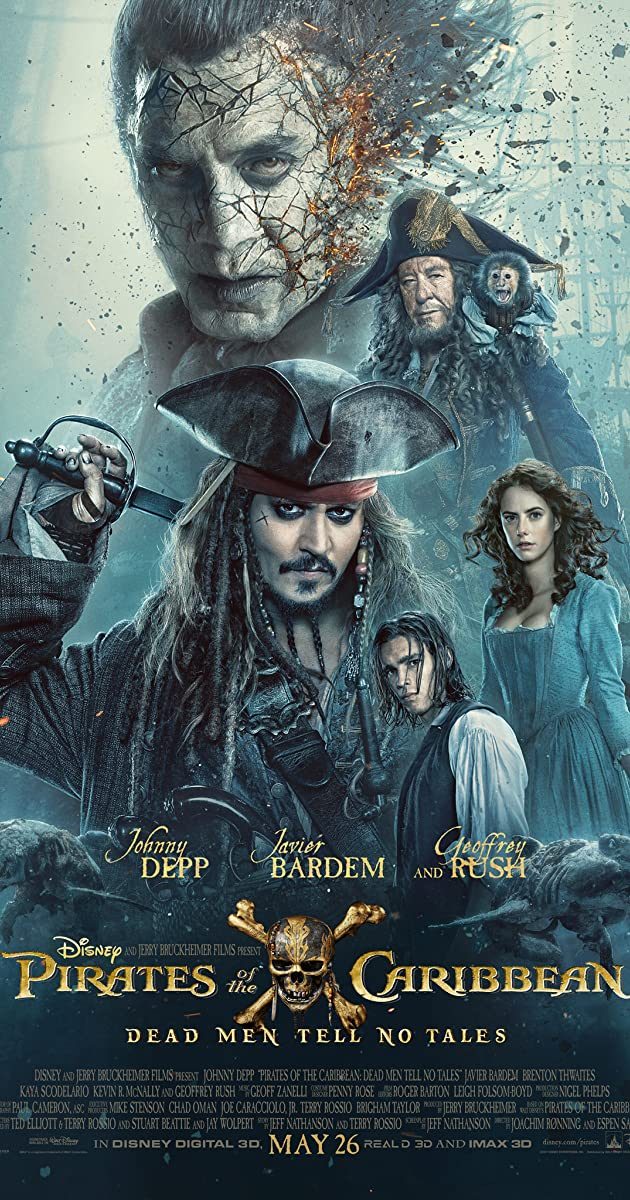 Image result for pirates of the caribbean dead men tell no tales poster