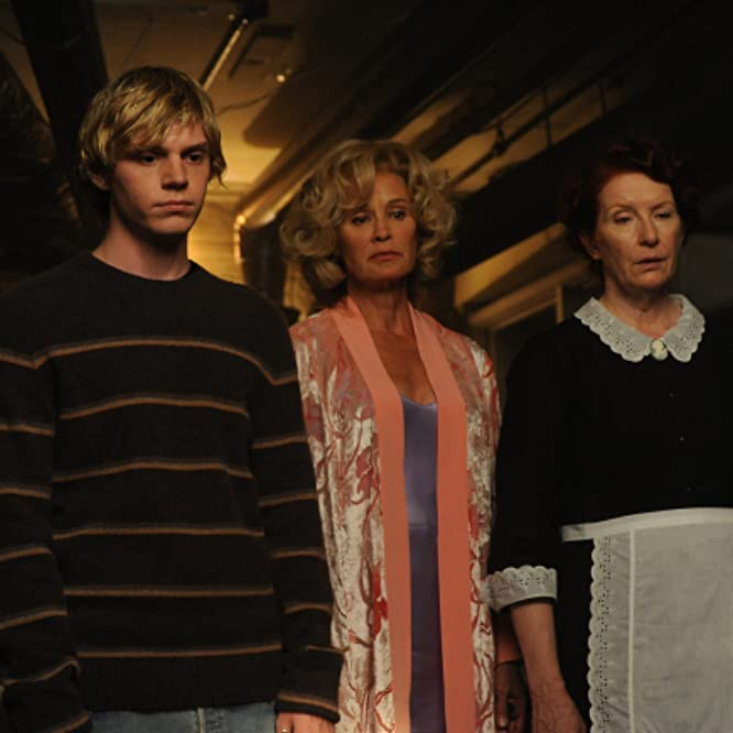 Jessica Lange, Frances Conroy, and Evan Peters in American Horror Story (2011)