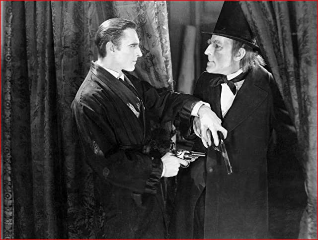 John Barrymore and Gustav von Seyffertitz in Sherlock Holmes (1922)