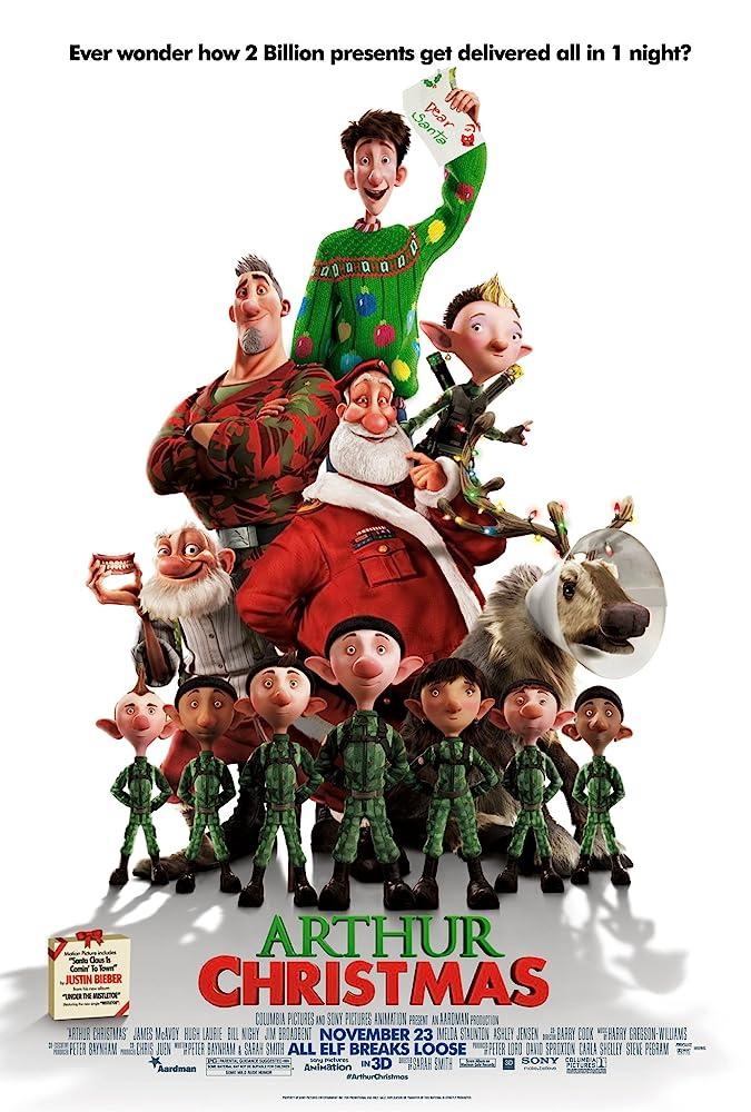 Kerst klassieker Arthur Christmas (2011) van Sony en Aardman Animation