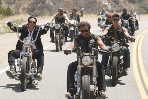 Michael Madsen, Eric Balfour, and Larry Bishop in Hell Ride (2008)