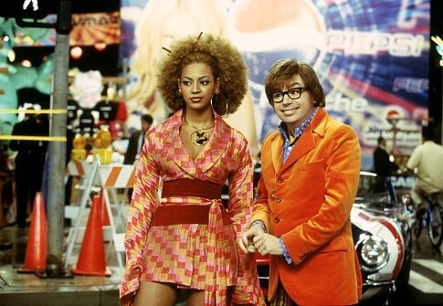Mike Myers and Beyoncé Knowles in Austin Powers in Goldmember (2002)