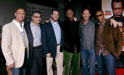 Samuel L. Jackson, Miguel Ferrer, Robert N. Fried, Luke Goss, Eugene Levy, and Anthony Mackie at The Man (2005)