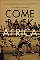 Image of Come Back, Africa