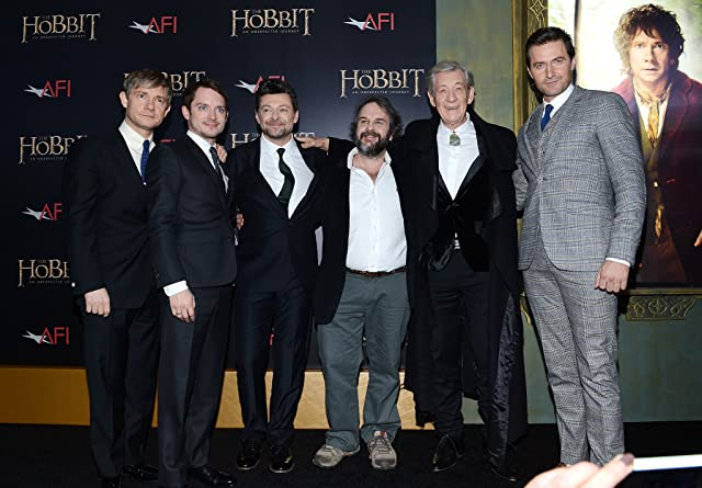 Elijah Wood, Peter Jackson, Ian McKellen, Richard Armitage, Martin Freeman, and Andy Serkis at an event for The Hobbit: An Unexpected Journey (2012)